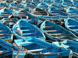 Fishing boats in Essaouira, Morocco