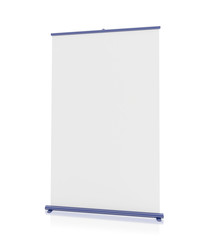 Blank 'roll-up' display
