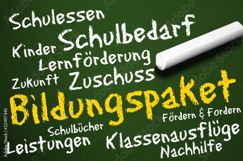 Poster Tafel mit Bildungspaket