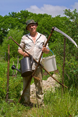 Gardener with tool 3