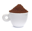Cup of ground espresso