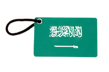 Saudi Arabia  flag tag