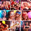 colorful collage of  photos from the party