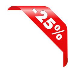 25% Ecke - Vector