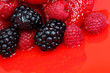 berry mixed pile in syrup