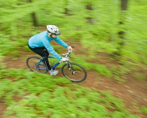 Woman bike riding