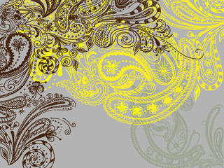 Eastern stylish hand drawn background.