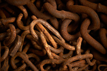 Rusty chains texture