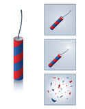 Firecracker with sequence poster