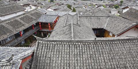 traditional chinese houses in lijiang, yunnan, china