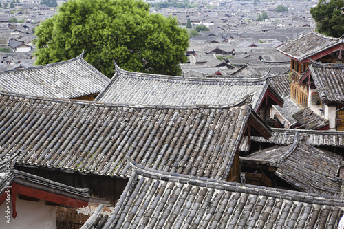 ancient town of dayan in lijiang, yunnan province, china