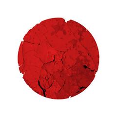 Flag of japan whith quake. Earthquake and tsunami causes