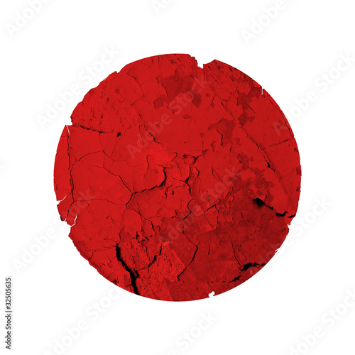 Flag of japan whith quake. Earthquake and tsunami causes