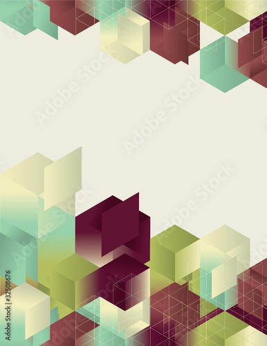 Isometric Gradient Cube Page Design
