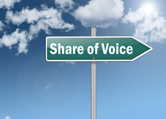 """Signpost """"Share of Voice"""""""