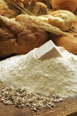 Ingredienti per il pane