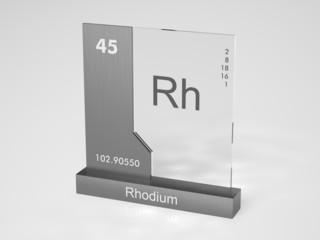 Rhodium - symbol Rh