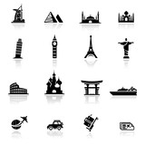 Fototapety Icon set  landmarks and cultures