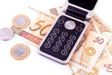 mobile phone and money from Brazil