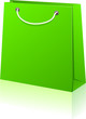 Green shopping bag.