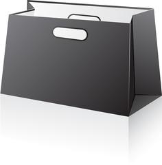 Black shopping bag.