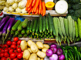 Vegetables at farmer market
