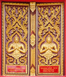 Golden Wood Carving,Traditional Thai Style in Thai Temple.