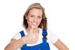 motivierte handwerkerin