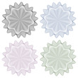 Zertifikat Symbole - Set, Muster, Guilloche, Rosetten