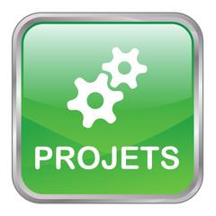 """Bouton Web """"PROJETS"""" (gestion équipe produits services clients)"""
