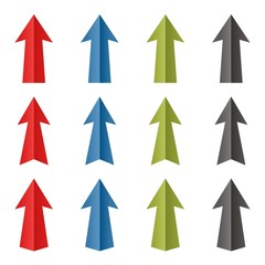 Set of vector color arrows