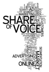 """Word Cloud """"Share of Voice"""""""