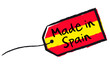 "Etiquette ""Made in Spain"""