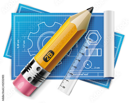 Vector technical drawing XXL icon