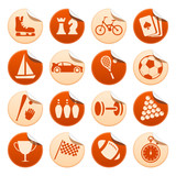 Sport & hobby stickers poster