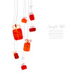 Birthday Card Hanging Gifts Red