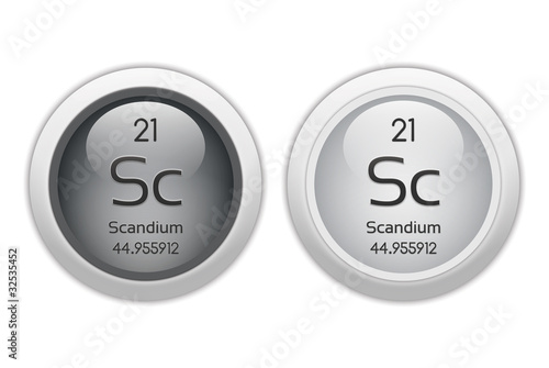 Scandium - two glossy web buttons