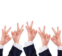 Conceptual image, Okay hand sign