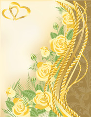 Wedding greeting card, vector illustration