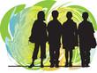 Friends vector illustration