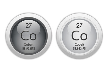 Cobalt - two glossy web buttons