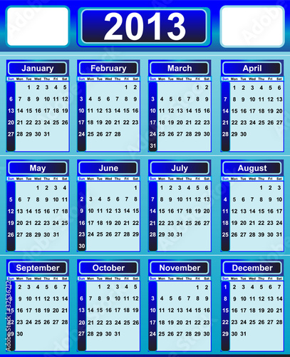 Calendar 2013 by Ilenia Pagliarini, Royalty free vectors #32536212 on