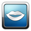 """Glossy Square Icon """"Mouth / Lips Symbol"""""""