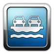 """Glossy Square Icon """"Vehicle Ferry"""""""