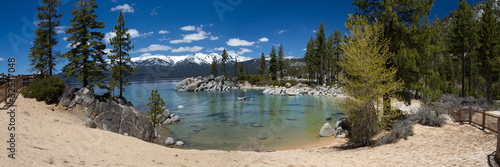 panorama of Sand Harbor beach, Lake Tahoe