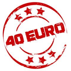 Stempel: 40 Euro