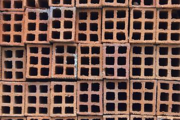 Layers of bricks