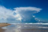 Fototapeta chmura - linia brzegowa - Wybrzeże