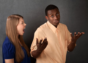 Angry Woman Snubbed By Man