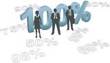 People choose 100 per cent quality effort poster
